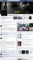 """Screenshot einesFacebook """"Timeline"""" Profil, das es seit Mai 2012 gibt."""