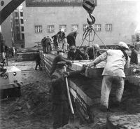Mauerbau 1969 / Bild: Stöhr, de.wkipedia.org
