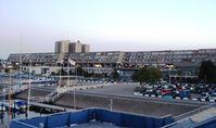Das Olympiazentrum Schilksee (Südteil) – im Hintergrund die beiden Apartmenthäuser