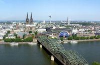 Blick über das Zentrum Kölns.