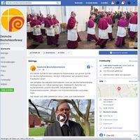 """Bild: Screenshot Facebookseite: """"Deutsche Bischofskonferenz"""" (https://www.facebook.com/dbk.de) / Eigenes Werk"""