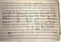 Partiturseite aus der Originalhandschrift der Oper Rosamunde von Anton Schweizer (Text: Christoph Martin Wieland) Quelle: Weimar, Thüringisches Hauptstaatsarchiv (HMA 3889) (idw)