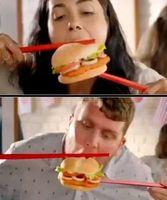 Burger mit Stäbchen: Burger King entschuldigt sich.