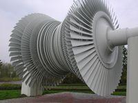 Niederdruck-Turbinenläufer aus dem Kernkraftwerk Unterweser