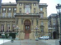 Der offizielle Eingang des Ministeriums