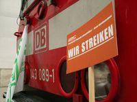 Streik der GDL am Leipziger Hauptbahnhof