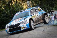 Drei SKODA Teams auf dem Podium beim Europameisterschaftslauf Barum Czech Rallye Zlín  Bild: SKODA Fotograf: Skoda Auto Deutschland GmbH