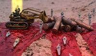 Die Regierung der Deutschen duldet weiterhin Mord & Totschlag in aller Welt mit Hilfe von Kriegswaffenexporten (Symbolbild)