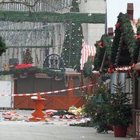 Weihnachtsmarkt auf dem Breitscheidplatz am Morgen nach dem Anschlag.