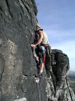 Kletterer in der Sächsischen Schweiz