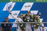 Der Ford GT mit der Startnummer 67 mit Andy Priaulx (GB), Harry Tincknell (GB) und Pipo Derani (BRA) am Steuer eroberte in der letzten Runde der 24 Stunden von Le Mans den zweiten Platz in der Kategorie LM GTE Pro.