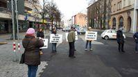 Demonstration gegen die Regierungsmaßnahmen am 23.01.2021 in Pforzheim (Symbolbild)