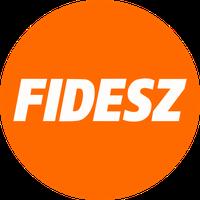 Fidesz – Ungarischer Bürgerbund, kurz Fidesz [ˈfidɛs] oder Fidesz-MPSZ (ungarisch Fidesz – Magyar Polgári Szövetség) Logo