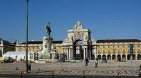 Praça do Comércio (Platz des Handels) in der portugiesischen Hauptstadt Lissabon