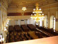 Tschechien: Sitzungssaal des Abgeordnetenhauses