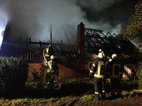 Das Wohnhaus wurde durch das Feuer vollständig zerstört