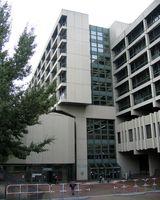 Der Ort des NSU Prozesses: Das Strafjustizzentrum in der Nymphenburger Straße 16 in München