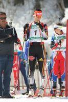 Buchholz am Start zum IBU-Cup-Verfolgungsrennen 2009 in Ridnaun.
