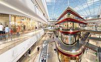 """Die Einkaufsgalerie """"Neues Thier-Areal"""" in Dortmund glänzt mit einer spektakulären Architektur: Im Herzen der Einkaufsgalerie wird ein freistehendes Gebäude errichtet, das über Brücken mit den übrigen Gebäudeteilen verbunden ist. (c) ECE Projektmanagement"""