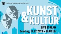 "Bild: SS Video: ""Kunst & Kultur – Livestream 14.02.21 Menschen Machen Mut"" (https://tube.kenfm.de/videos/watch/a6e6cbd8-b8ae-4494-b3b7-4ad89a64fc88) / Eigenes Werk"