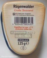 Rügenwalder Teewurst, grob (125 g) im Frische-Becher
