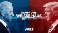 """Joe Biden (Demokraten) oder Amtsinhaber Donald Trump (Republikaner): Wer wird der nächste US-Präsident? / Bild: """"obs/WELT/Bild: © WeltN24 GmbH"""""""