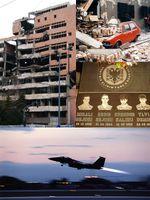 Collage vom Kosovokrieg