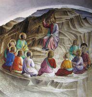 Die Bergpredigt, Fresko von Fra Angelico (1437–1445)