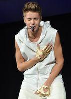 Justin Bieber bei der Believe-Tour im Oktober 2012