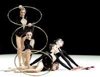 Eine Gruppe Sportgymnastinnen.