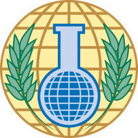 Logo  Organisation für das Verbot chemischer Waffen (englisch Organisation for the Prohibition of Chemical Weapons, OPCW)