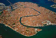 Luftbild von Venedigs Altstadt, dem Centro Storico