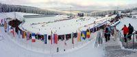 Ski-Arena beim Biathlon-Weltcup 2010