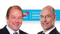 Dirk Nockemann und Dr. Alexander Wolf, Vorsitzende der AfD-Fraktion in der Hamburgischen Bürgerschaft (2020)