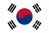 Flagge der  Republik Korea
