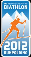 Logo der Biathlon-Weltmeisterschaften 2012 in Ruhpolding