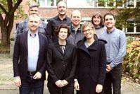 C. Bech (Aarhus), M. Blömer (Aarhus), J. Leahy (Birmingham), Y. Mahé (Paris), S. Feuser (Kiel, hinten l. nach r.) A. Duplouy (Paris), M. Zarmakoupi (Birmingham) A. Gallo (Paris, vorn l. nach r.) Quelle: Foto: Christian Urban, Universität Kiel (idw)