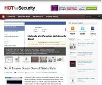 """Screenshot von Blog """"HOTforSecurity"""""""