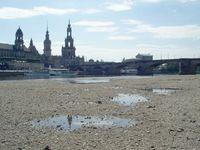 Niedrigwasser in Dresden (Pegel bei 1m, Juni 2005)