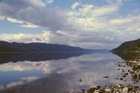 Der See Loch Ness vom östlichen Ende aus gesehen