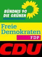 """Die """"Jamaika"""" Koalition aus CDU-FDP-B90/Die Grünen"""