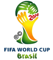 Logo der Fußball-Weltmeisterschaft 2014 in Brasilien