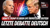 US-Präsident Donald Trump und sein Herausforderer Joe Biden (2020)