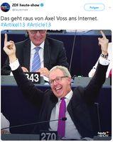 Axel Voss zeigte nicht die gestreckten Mittelfinger