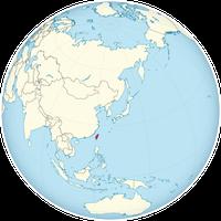 Die Insel Taiwan, Karte