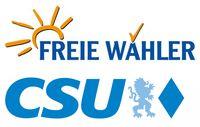 CSU und Freie Wähler Logos