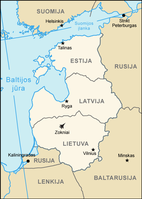 The three Baltic states: Estonia, Latvia, and Lithuania.