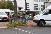 Tatort am Nachmittag nach dem Attentat an Henriette Reker