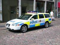 Schwedisches Polizeifahrzeug