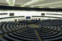 Plenarsaal des Europäischen Parlaments in Straßburg.